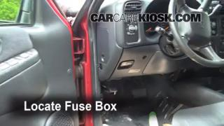 Interior Fuse Box Location: 1998-2005 Chevrolet Blazer