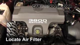 1995-1999 Chevrolet Monte Carlo Engine Air Filter Check