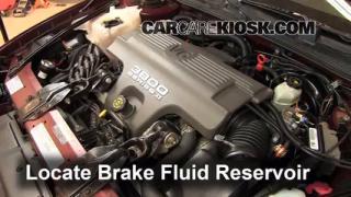 1999 Chevrolet Monte Carlo Z34 3.8L V6 Brake Fluid Check Fluid Level
