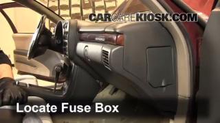 Interior Fuse Box Location: 1995-1999 Chevrolet Monte Carlo