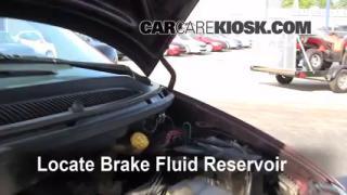 1996-2000 Dodge Caravan Brake Fluid Level Check
