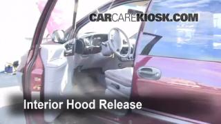 Open Hood How To 1996-2000 Dodge Caravan