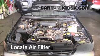 1993-2001 Subaru Impreza Engine Air Filter Check