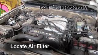 1996-2002 Toyota 4Runner Engine Air Filter Check