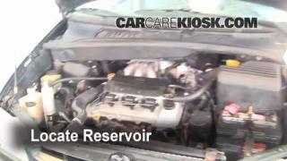 Check Windshield Washer Fluid Toyota Sienna (1998-2003)