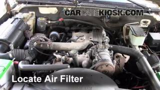 2000 Chevrolet K3500 6.5L V8 Turbo Diesel Cab and Chassis Air Filter (Engine) Replace