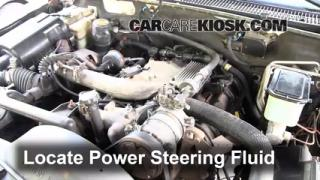 2000 Chevrolet K3500 6.5L V8 Turbo Diesel Cab and Chassis Power Steering Fluid Check Fluid Level