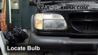 2000 Ford Explorer XLS 4.0L V6 Lights Headlight (replace bulb)