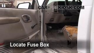 Interior Fuse Box Location: 1990-2000 GMC C3500