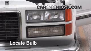 2000 GMC C3500 Sierra SL 7.4L V8 Extended Cab Pickup (2 Door) Lights Daytime Running Light (replace bulb)