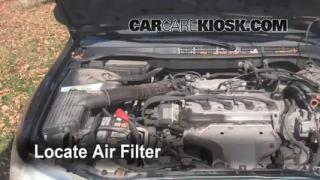 1998-2002 Honda Accord Engine Air Filter Check