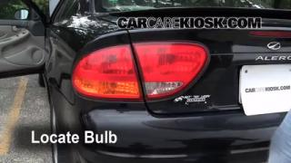 2000 Oldsmobile Alero GL 3.4L V6 Sedan (4 Door) Lights Turn Signal - Rear (replace bulb)