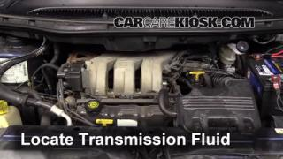 2000 Plymouth Voyager 3.3L V6 Transmission Fluid Check Fluid Level