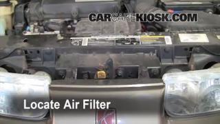 1991-2002 Saturn SL Engine Air Filter Check