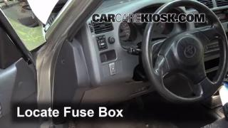 interior fuse box location   toyota rav