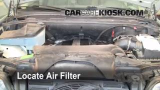 2000-2006 BMW X5 Cabin Air Filter Check