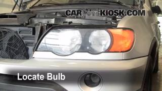 2001 BMW X5 3.0i 3.0L 6 Cyl. Lights Highbeam (replace bulb)