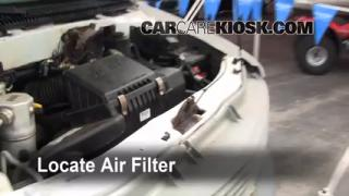 1990-2005 Chevrolet Astro Engine Air Filter Check