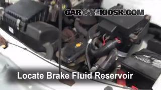 1990-2005 Chevrolet Astro Brake Fluid Level Check