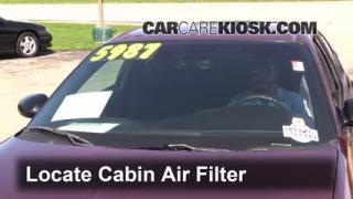 2001 Chevrolet Monte Carlo LS 3.4L V6 Air Filter (Cabin) Replace