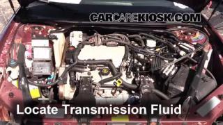 2001 Chevrolet Monte Carlo LS 3.4L V6 Transmission Fluid Add Fluid