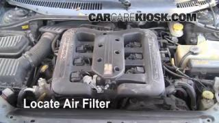 1999-2001 Chrysler LHS Engine Air Filter Check
