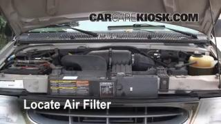 1990-2007 Ford E-350 Club Wagon Engine Air Filter Check