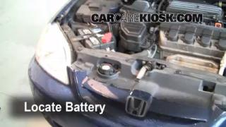 2001 Honda Civic EX 1.7L 4 Cyl. Coupe (2 Door) Battery Clean Battery & Terminals