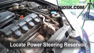 Follow These Steps to Add Power Steering Fluid to a Honda Civic (2001-2005)