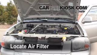 1998-2004 Nissan Frontier Engine Air Filter Check