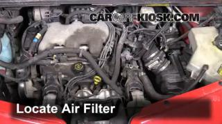 2001-2005 Pontiac Aztek Engine Air Filter Check