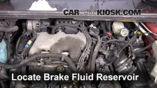 2001-2005 Pontiac Aztek Brake Fluid Level Check