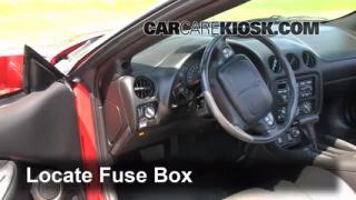 1993-2002 Pontiac Firebird Interior Fuse Check