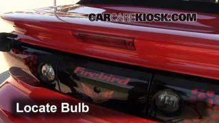 2001 Pontiac Firebird 3.8L V6 Convertible Lights Center Brake Light (replace bulb)