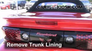2001 Pontiac Firebird 3.8L V6 Convertible Jack Up Car Use Your Jack to Raise Your Car