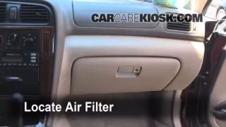 2000-2004 Subaru Outback Cabin Air Filter Check