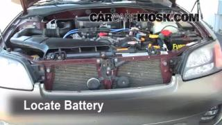 Battery Replacement: 2000-2004 Subaru Outback