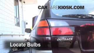 2001 Subaru Outback Limited 2.5L 4 Cyl. Wagon Lights Tail Light (replace bulb)