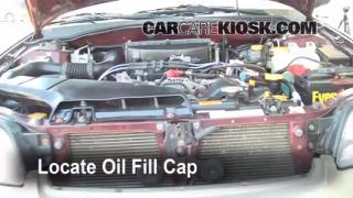 How to Add Oil Subaru Legacy (2000-2004)