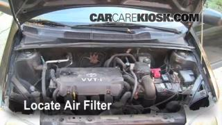 2000-2005 Toyota Echo Engine Air Filter Check