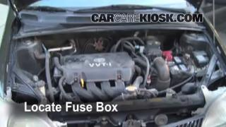 Blown Fuse Check 2000-2005 Toyota Echo