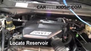 Check Windshield Washer Fluid Toyota RAV4 (2001-2005)
