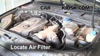 2002-2008 Audi A4 Quattro Engine Air Filter Check