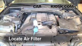 2002 BMW 325i 2.5L 6 Cyl. Sedan Air Filter (Engine) Replace
