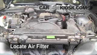 2002 BMW 530i 3.0L 6 Cyl. Air Filter (Engine) Check