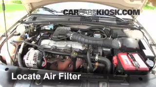 1995-2005 Chevrolet Cavalier Engine Air Filter Check