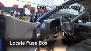 Interior Fuse Box Location: 1997-2003 Ford Escort