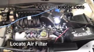 2000-2007 Ford Taurus Engine Air Filter Check