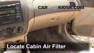 1999-2003 Mazda Protege Cabin Air Filter Check