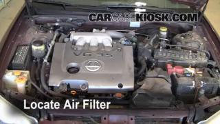 2000-2003 Nissan Maxima Engine Air Filter Check